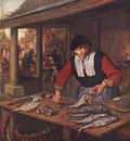 OSTADE Adriaen Jansz van The Fishwife