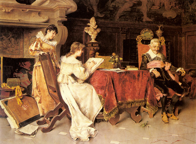 Cecchi Adriano The Art Lesson