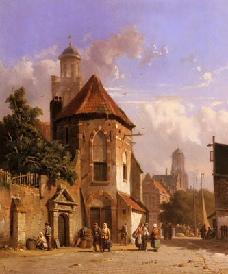 Everson Adrianus View Of A Dutch Street