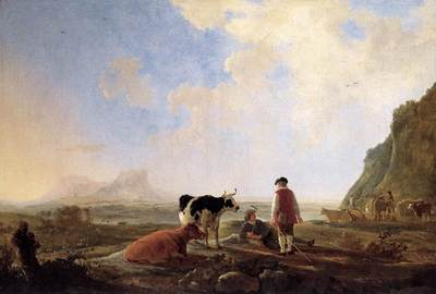 CUYP Aelbert Herdsmen With Cows
