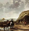 CUYP Aelbert Large River Landscape With Horsemen