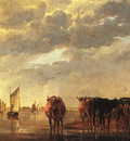 CUYP Aelbert herdsman With Cows By A River