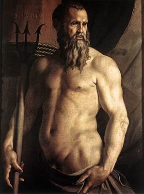 Bronzino Portrait of Andrea Doria as Neptune