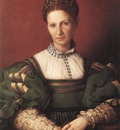 BRONZINO Agnolo Portrait Of A Lady In Green