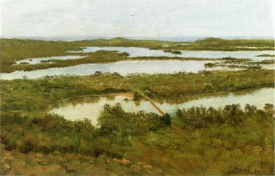 Bierstadt Albert A River Estuary