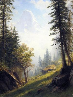 Bierstadt Albert Among the Bernese Alps