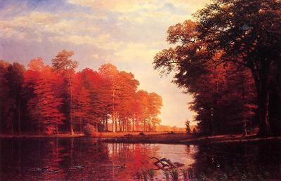 Bierstadt Albert Autumn Woods