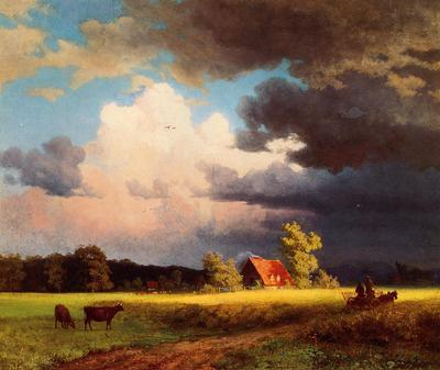 Bierstadt Albert Bavarian Landscape
