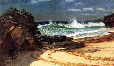 Bierstadt Albert Beach at Nassau