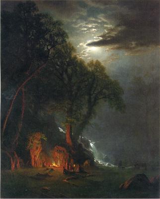 Bierstadt Albert Campfire Site Yosemite
