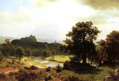 Bierstadt Albert Day s Beginning