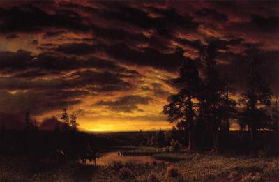 Bierstadt Albert Evening on the Prarie