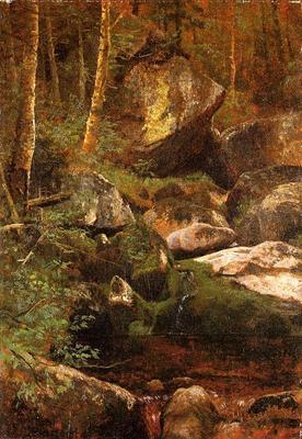 Bierstadt Albert Forest Stream