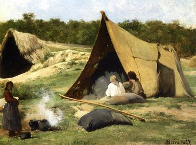 Bierstadt Albert Indian Camp