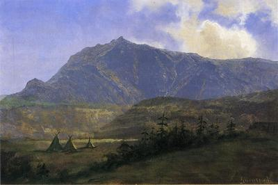 Bierstadt Albert Indian Encampment
