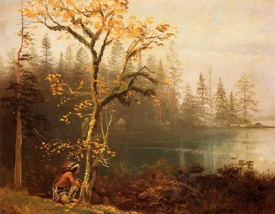 Bierstadt Albert Indian Scout