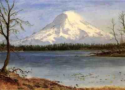 Bierstadt Albert Lake in the Rockies