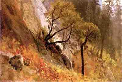 Bierstadt Albert Landscape Study Yosemite California