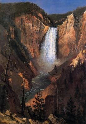 Bierstadt Albert Lower Yellowstone Falls