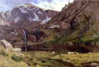 Bierstadt Albert Mountain Lake
