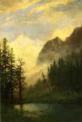 Bierstadt Albert Mountain Landscape