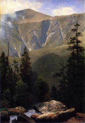 Bierstadt Albert Mountainous Landscape