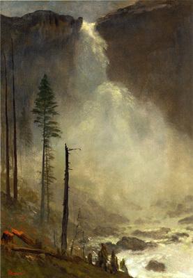 Bierstadt Albert Nevada Falls