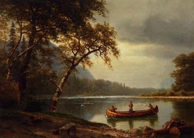 Bierstadt Albert Salmon Fishing on the Cascapediac River