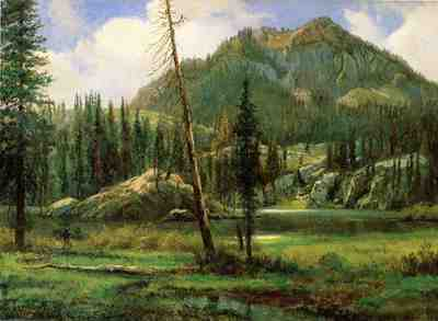 Bierstadt Albert Sierra Nevada Mountains