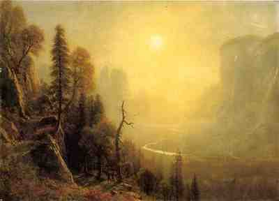 Bierstadt Albert Study for Yosemite Valley Glacier Point Trail