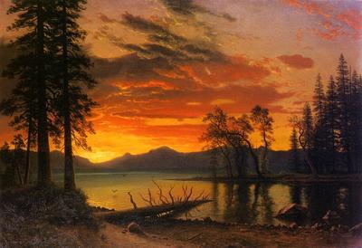 Bierstadt Albert Sunset over the River