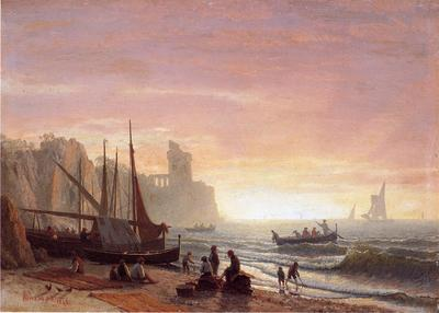 Bierstadt Albert The Fishing Fleet