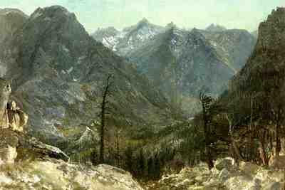 Bierstadt Albert The Sierra Nevadas