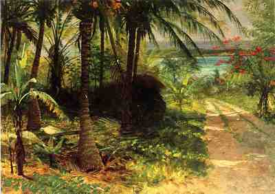 Bierstadt Albert Tropical Landscape