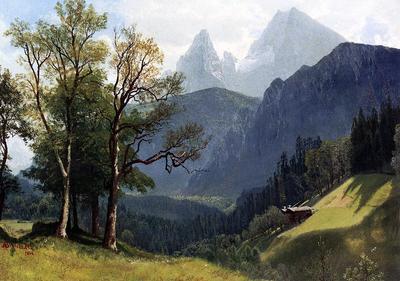 Bierstadt Albert Tyrolean Lansscape