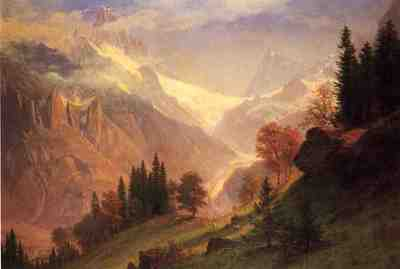 Bierstadt Albert View of the Grindelwald