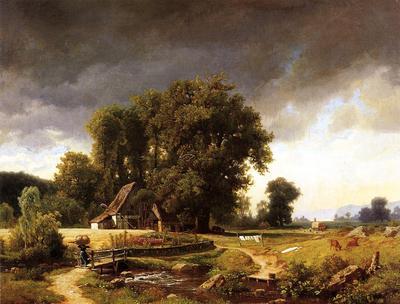 Bierstadt Albert Westphalian Landscape