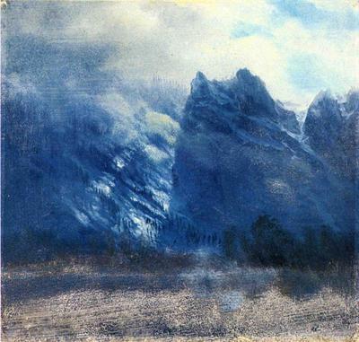 Bierstadt Albert Yosemite Valley Twin Peaks