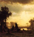 Bierstadt Albert An Indian Encampment