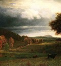 Bierstadt Albert Autumn Landscape The Catskills