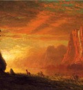 Bierstadt Albert Deer at Sunset