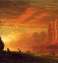 Bierstadt Albert Deer at Sunset