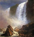 Bierstadt Albert Falls of Niagara from Below