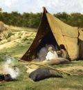 Bierstadt Albert Indian Camp