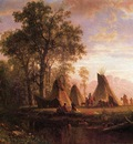 Bierstadt Albert Indian Encampment Late Afternoon