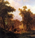 Bierstadt Albert Indian Encampment Shoshone Village