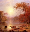 Bierstadt Albert Indian Summer Hudson River