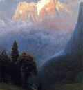 Bierstadt Albert Storm Among the Alps
