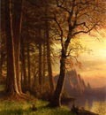 Bierstadt Albert Sunset in California Yosemite