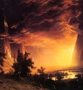 Bierstadt Albert Sunset in the Yosemite Valley